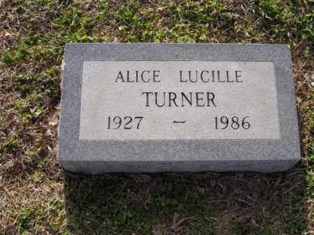 TURNER, ALICE LUCILLE - Cross County, Arkansas | ALICE LUCILLE TURNER - Arkansas Gravestone Photos