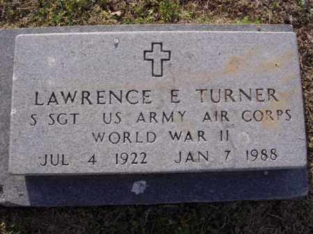 TURNER  (VETERAN WWII), LAWRENCE ELMER - Cross County, Arkansas | LAWRENCE ELMER TURNER  (VETERAN WWII) - Arkansas Gravestone Photos