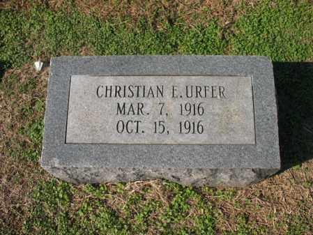 URFER, CHRISTIAN E - Cross County, Arkansas | CHRISTIAN E URFER - Arkansas Gravestone Photos