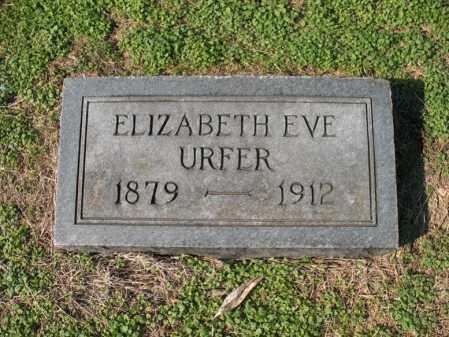 URFER, ELIZABETH EVE - Cross County, Arkansas | ELIZABETH EVE URFER - Arkansas Gravestone Photos