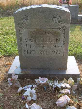 WEBSTER VAN DUSEN, A LOAS - Cross County, Arkansas | A LOAS WEBSTER VAN DUSEN - Arkansas Gravestone Photos