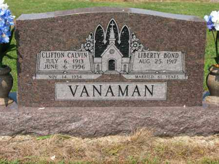 VANAMAN, CLIFTON CALVIN - Cross County, Arkansas | CLIFTON CALVIN VANAMAN - Arkansas Gravestone Photos