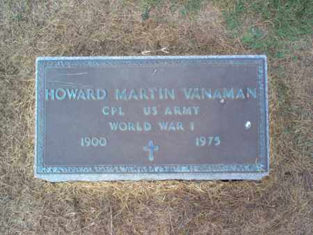 VANAMAN (VETERAN WWI), HOWARD MARTIN - Cross County, Arkansas | HOWARD MARTIN VANAMAN (VETERAN WWI) - Arkansas Gravestone Photos