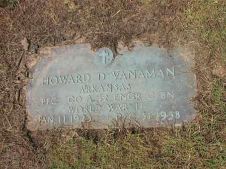 VANAMAN (VETERAN WWII), HOWARD DANIEL - Cross County, Arkansas | HOWARD DANIEL VANAMAN (VETERAN WWII) - Arkansas Gravestone Photos