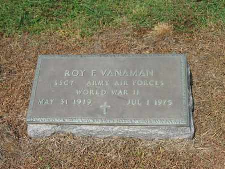 VANAMAN (VETERAN WWII), ROY F - Cross County, Arkansas | ROY F VANAMAN (VETERAN WWII) - Arkansas Gravestone Photos