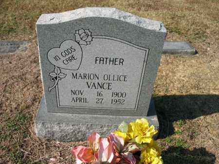 VANCE, MARION OLLICE - Cross County, Arkansas | MARION OLLICE VANCE - Arkansas Gravestone Photos
