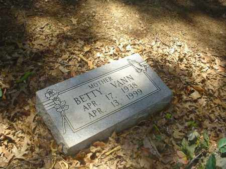 VANN, BETTY - Cross County, Arkansas | BETTY VANN - Arkansas Gravestone Photos