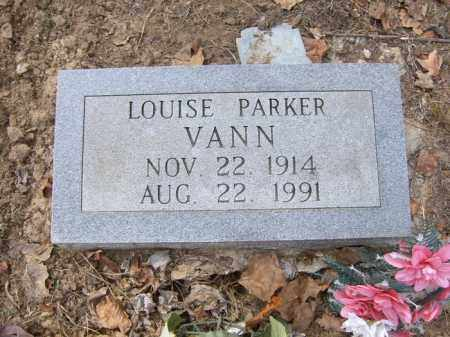 PARKER VANN, LOUISE - Cross County, Arkansas | LOUISE PARKER VANN - Arkansas Gravestone Photos