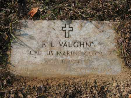 VAUGHN (VETERAN WWII), R L - Cross County, Arkansas | R L VAUGHN (VETERAN WWII) - Arkansas Gravestone Photos