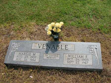 VENABLE, WILLIAM F - Cross County, Arkansas | WILLIAM F VENABLE - Arkansas Gravestone Photos