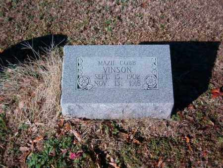 COBB VINSON, MAZIE - Cross County, Arkansas | MAZIE COBB VINSON - Arkansas Gravestone Photos
