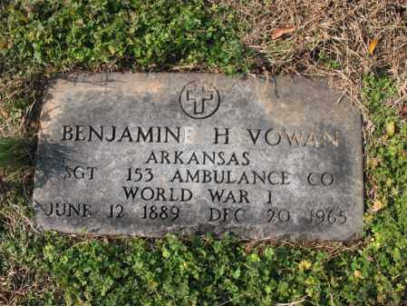 VOWAN (VETERAN WWI), BENJAMIN H - Cross County, Arkansas | BENJAMIN H VOWAN (VETERAN WWI) - Arkansas Gravestone Photos