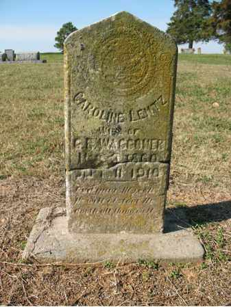 LEMTZ WAGGONER, CAROLINE - Cross County, Arkansas | CAROLINE LEMTZ WAGGONER - Arkansas Gravestone Photos