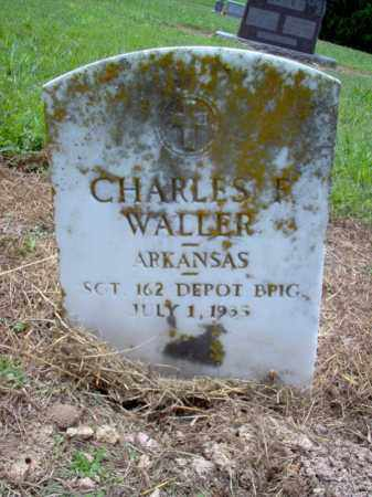 WALLER (VETERAN WWI), CHARLES F - Cross County, Arkansas | CHARLES F WALLER (VETERAN WWI) - Arkansas Gravestone Photos