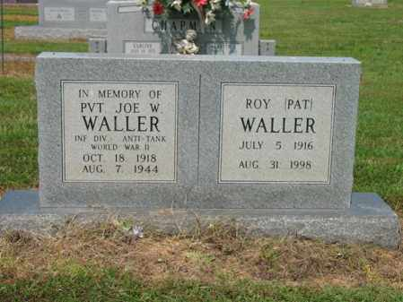 WALLER (VETERAN WWII), JOE W - Cross County, Arkansas | JOE W WALLER (VETERAN WWII) - Arkansas Gravestone Photos