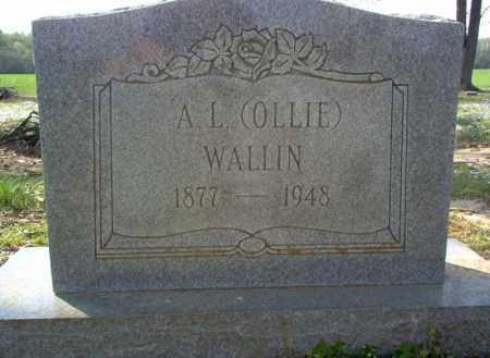 "WALLIN, A L ""OLLIE"" - Cross County, Arkansas | A L ""OLLIE"" WALLIN - Arkansas Gravestone Photos"