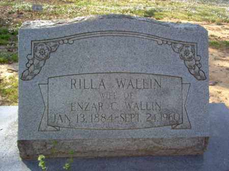WALLIN, RILLA - Cross County, Arkansas | RILLA WALLIN - Arkansas Gravestone Photos