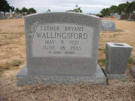 BRYANT WALLINGSFORD, ESTHER - Cross County, Arkansas | ESTHER BRYANT WALLINGSFORD - Arkansas Gravestone Photos