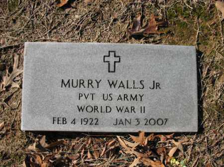 WALLS, JR (VETERAN WWII), MURRY - Cross County, Arkansas | MURRY WALLS, JR (VETERAN WWII) - Arkansas Gravestone Photos