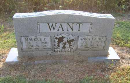 WANT, MAURICE D - Cross County, Arkansas | MAURICE D WANT - Arkansas Gravestone Photos
