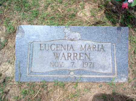 WARREN, EUGENIA MARIA - Cross County, Arkansas | EUGENIA MARIA WARREN - Arkansas Gravestone Photos