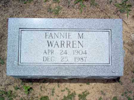 WARREN, FANNIE M - Cross County, Arkansas | FANNIE M WARREN - Arkansas Gravestone Photos