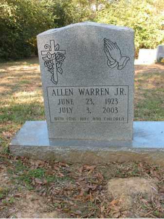 WARREN, JR., ALLEN - Cross County, Arkansas | ALLEN WARREN, JR. - Arkansas Gravestone Photos