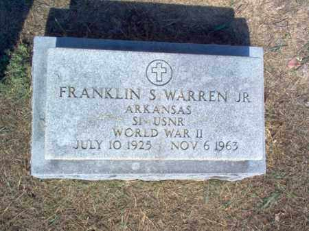 WARREN, JR (VETERAN WWII), FRANKLIN S - Cross County, Arkansas | FRANKLIN S WARREN, JR (VETERAN WWII) - Arkansas Gravestone Photos