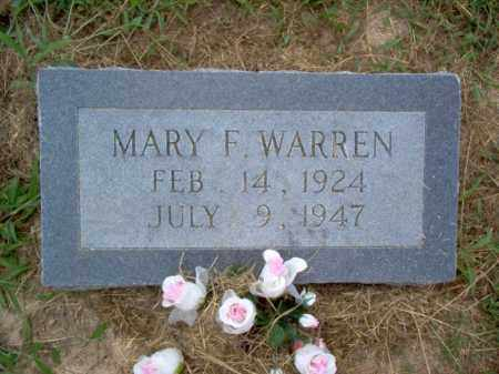 WARREN, MARY F - Cross County, Arkansas | MARY F WARREN - Arkansas Gravestone Photos