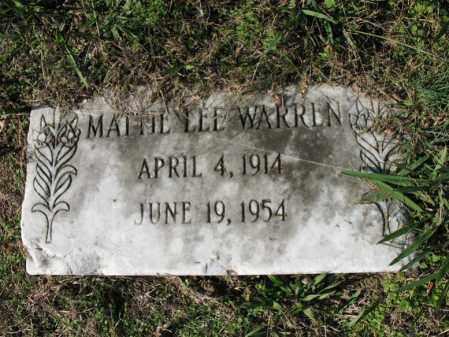 WARREN, MATTIE LEE - Cross County, Arkansas | MATTIE LEE WARREN - Arkansas Gravestone Photos