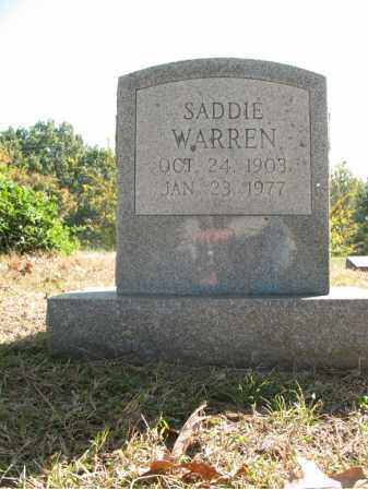 WARREN, SADDIE - Cross County, Arkansas | SADDIE WARREN - Arkansas Gravestone Photos