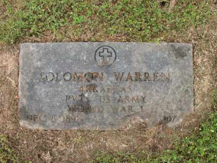 WARREN (VETERAN WWI), SOLOMON - Cross County, Arkansas | SOLOMON WARREN (VETERAN WWI) - Arkansas Gravestone Photos