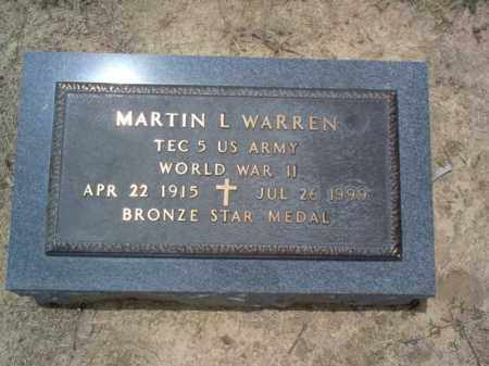 WARREN (VETERAN WWII), MARTIN L - Cross County, Arkansas | MARTIN L WARREN (VETERAN WWII) - Arkansas Gravestone Photos