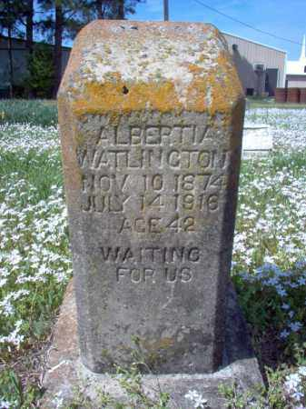 WATLINGTON, ALBERTIA - Cross County, Arkansas | ALBERTIA WATLINGTON - Arkansas Gravestone Photos