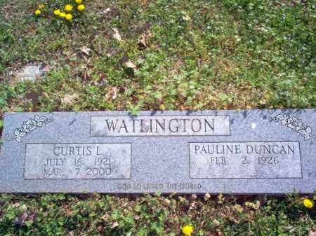 WATLINGTON, CURTIS L - Cross County, Arkansas | CURTIS L WATLINGTON - Arkansas Gravestone Photos