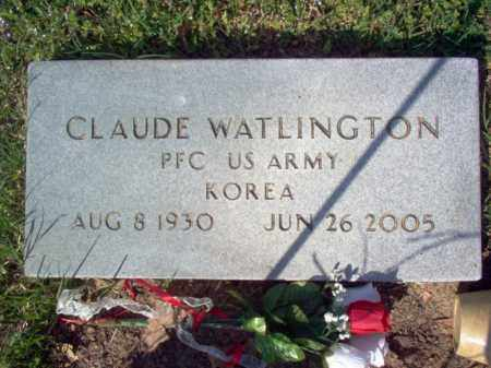 WATLINGTON (VETERAN KOR), CLAUDE - Cross County, Arkansas | CLAUDE WATLINGTON (VETERAN KOR) - Arkansas Gravestone Photos