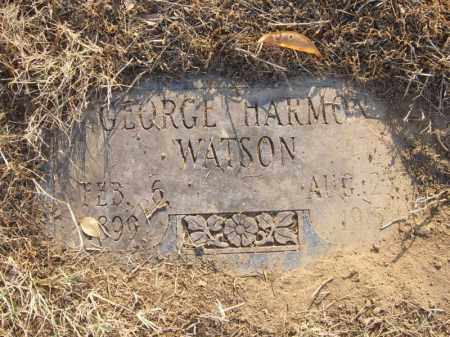 WATSON, GEORGE HARMON - Cross County, Arkansas | GEORGE HARMON WATSON - Arkansas Gravestone Photos
