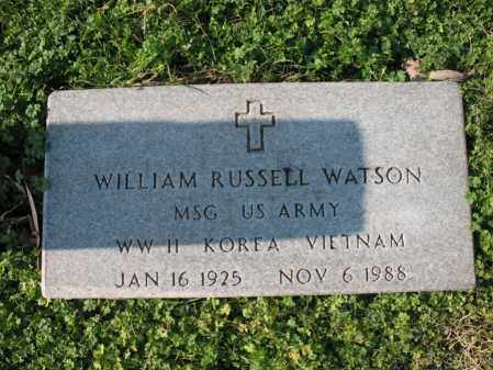 WATSON (VETERAN 3 WARS), WILLIAM RUSSELL - Cross County, Arkansas | WILLIAM RUSSELL WATSON (VETERAN 3 WARS) - Arkansas Gravestone Photos