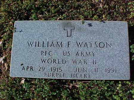 WATSON (VETERAN WWII), WILLIAM F - Cross County, Arkansas | WILLIAM F WATSON (VETERAN WWII) - Arkansas Gravestone Photos