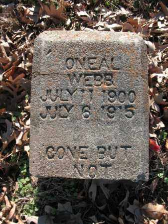 WEBB, ONEAL - Cross County, Arkansas | ONEAL WEBB - Arkansas Gravestone Photos