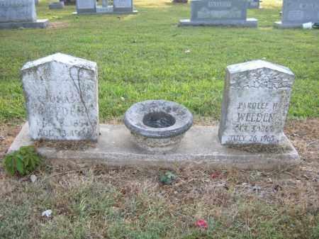 WEEDEN, PAROLEE H - Cross County, Arkansas   PAROLEE H WEEDEN - Arkansas Gravestone Photos