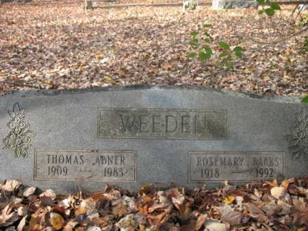 WEEDEN (VETERAN WWI), THOMAS ABNER - Cross County, Arkansas | THOMAS ABNER WEEDEN (VETERAN WWI) - Arkansas Gravestone Photos