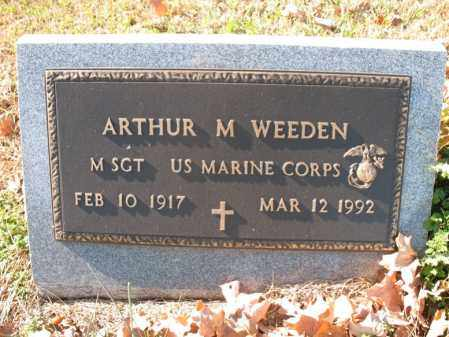 WEEDEN (VETERAN), ARTHUR M - Cross County, Arkansas | ARTHUR M WEEDEN (VETERAN) - Arkansas Gravestone Photos