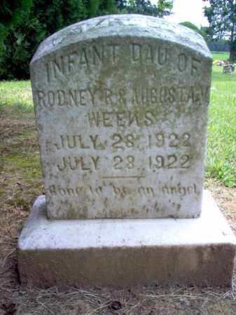 WEEKS, INFANT DAUGHTER - Cross County, Arkansas | INFANT DAUGHTER WEEKS - Arkansas Gravestone Photos