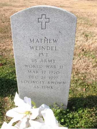 "WEINDEL  (VETERAN WWII), MATHEW ""HINK"" - Cross County, Arkansas | MATHEW ""HINK"" WEINDEL  (VETERAN WWII) - Arkansas Gravestone Photos"