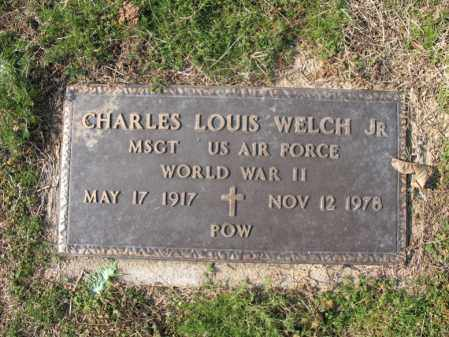 WELCH, JR (VETERAN WWII, POW), CHARLES LOUIS - Cross County, Arkansas | CHARLES LOUIS WELCH, JR (VETERAN WWII, POW) - Arkansas Gravestone Photos