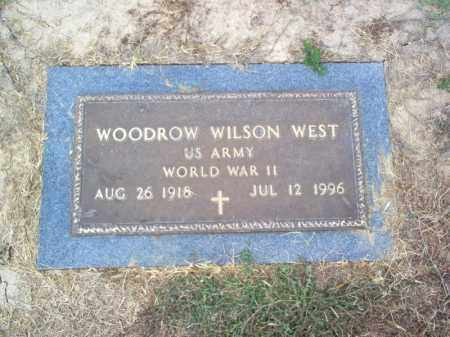 WEST (VETERAN WWII), WOODROW WILSON - Cross County, Arkansas | WOODROW WILSON WEST (VETERAN WWII) - Arkansas Gravestone Photos