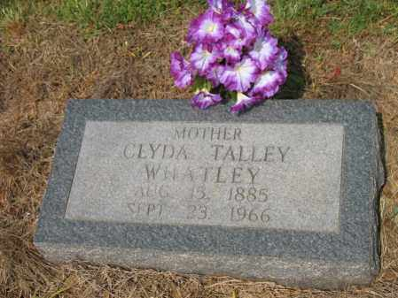 TALLEY WHATLEY, CLYDA - Cross County, Arkansas | CLYDA TALLEY WHATLEY - Arkansas Gravestone Photos