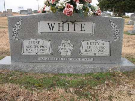 WHITE, HETTY A - Cross County, Arkansas | HETTY A WHITE - Arkansas Gravestone Photos