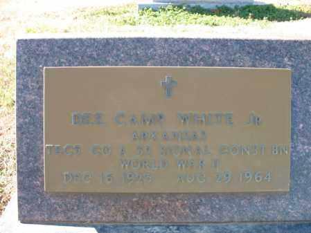 WHITE, JR (VETERAN WWII), DEE CAMP - Cross County, Arkansas | DEE CAMP WHITE, JR (VETERAN WWII) - Arkansas Gravestone Photos